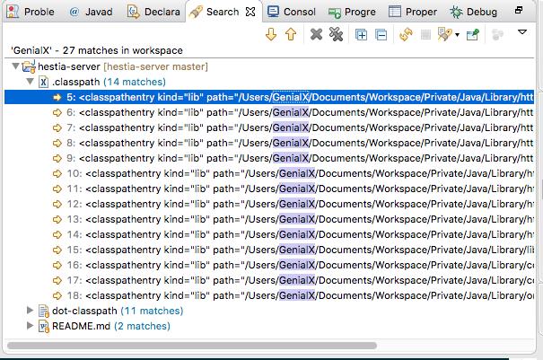 在Eclipse下进行全局文件搜索